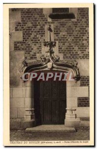 Postcard Old Mill Chateau XV century L and C Gate Entrance Logia