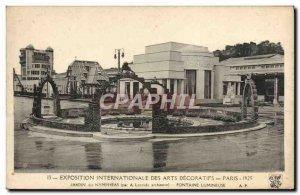Old Postcard Exposition Internationale des Arts Decoratifs Paris Jardin Des N...