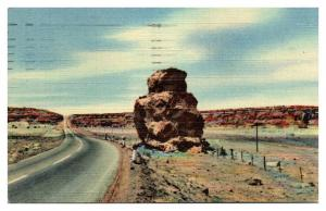 1951 Owl Rock on Route 66, NM Postcard *5F(3)3