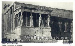 Greece Portico fot he Caryatides Athens Portico fot he Caryatides Printed Photo