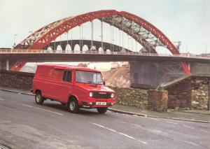 Royal Mail Postcard, The Wearmouth Bridge, Sunderland, Sherpa Van 41S