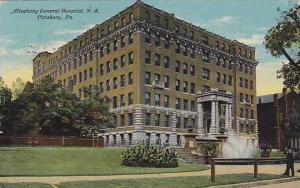 Exterior, Allegheny General Hospital, N.S. Pittsburg, Pennsylvania, PU-1911