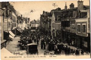 CPA AK ROMORANTIN - La Grande Rue et le Marché (208908)