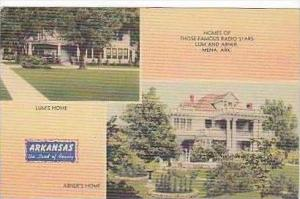 Arkansas Mena Home of Those Famous Radio Stars Lum and Abner