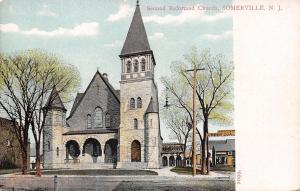 Somerville NJ~Second Reformed Church~Sargeant Lumber & Coal~1905 Postcard