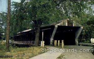 Newton Falls Ohio, Near Warren, Ohio, USA Covered Bridge Bridges, Postcard Po...