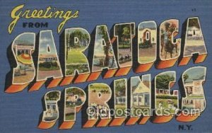 Saratoca Springs, N.Y., USA Large Letter Towns Unused