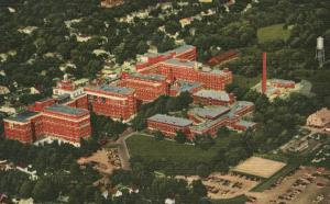 Aerial View of St Mary's Hospital - Rochester MN, Minnesota - Linen