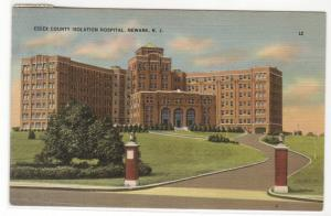 Essex County Isolation Hospital Newark New Jersey 1943 postcard