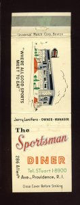 The Sportsman Diner Match Cover/Matchbook, Providence, RI/Rhode Island, 1950's?