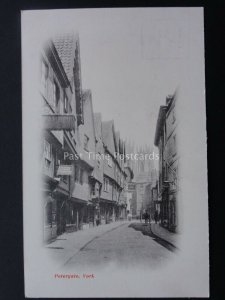 Yorkshire YORK Petergate H.J LLOYDS CYCLE WORKS c1904 protective tissue attached