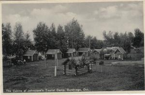 SUNDRIDGE, Ontario, Canada, 1930s ; Cabins at Johnstone's Tourist Camp