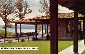 TABLE ROCK LAKE MISSOURI HOLIDAY INN~LOBBY ENTRANCE POSTCARD 1960s