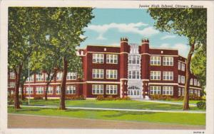 Junior High School Ottawa Kansas 1951 Curteich