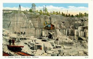 VT - Barre.  Granite Quarry  Scene