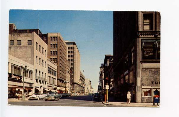 Minneapolis MN Street View Old Cars Vintage Store Fronts Postcard