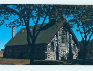 Unused Pre-1980 CHURCH SCENE Mackinac Island Michigan MI hs6462