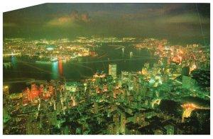 Hong Kong At Night Postcard PC1036
