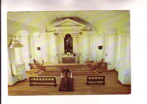 Interior, Garrison Chapel, Louisbourg, Nova Scotia, Lawson Graphics