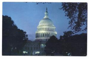 American Airlines Washington DC Capitol Dome Night Postcard