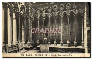 Postcard Old Paris Notre Dame Church Gallery North Tower