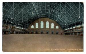 1912 Fifth Regiment Armory Interior, Convention Hall, Baltimore, MD Postcard