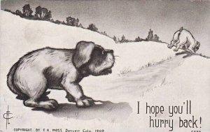 Fred Cavally Dog Series I hope you'll hurry back 1910