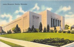 Omaha Nebraska~Joslyn Fine Arts Memorial Museum~1940s Postcard