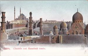 CAIRO, Egypt, 1900-1910´s; Citadelle And Mamelouk Tombs
