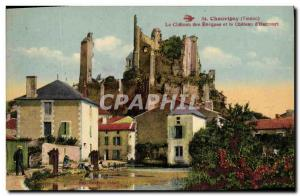 Old Postcard Chauvigny Le Chateau des Evequea and Chateau d'Harcourt