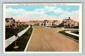 Tampa FL-Florida, Aegean Avenue, Davis Islands In Bay, Vintage Postcard