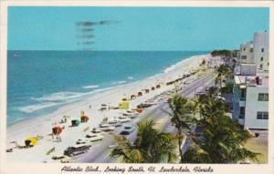 Florida Fort Lauderdale Atlantic Boulevard Looking South 1962