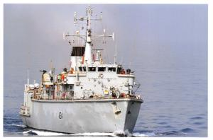 Postcard HMS Middleton Hunt Class Minesweeper Royal Navy 2012 99F