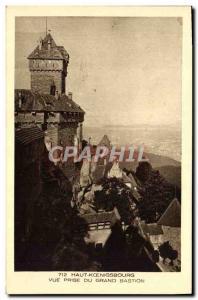 Postcard Old Hochkönigsburg Vue Prize Du Grand Bastion