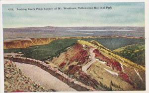 Looking south from summit of Mt. Washburn, Yellowstone National Park, Wyoming...