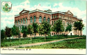 Bismarck, North Dakota Postcard STATE CAPITOL Building View c1910s