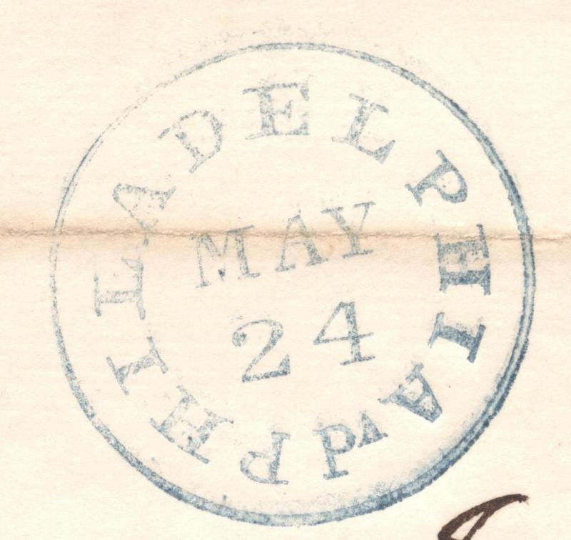 1837 Letter Sheet - Philadelphia to Boston