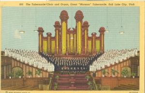 The Tabernacle Choir and Organ, Salt Lake City, Utah 1938...