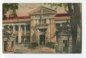 286899 VIETNAM SAIGON Palace of the Lieutenant Governor Vintage tinted postcard
