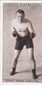 Ogdens Vintage Cigarette Card Pugilists In Action 1928 No 7 Johnny Brown