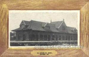 SO Depot, Bedford, IN, Indiana, USA Train Railroad Station Depot Post Card Po...