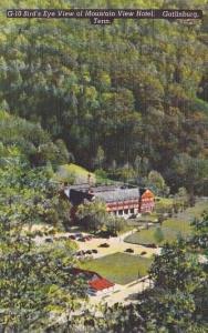 Tennessee Gatlinburg Bird's Eye View Of Mountain View Hotel