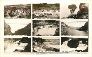 1940s Snake River View Gorge Southern Idaho Multi RPPC real photo 7337