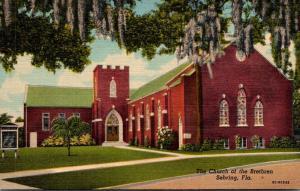 Florida Sebring The Church Of The Brethren Curteich