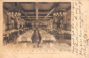 Mercersburg Pennsylvania Academy Dining Room Real Photo Antique Postcard K78726