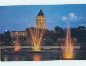 Unused Pre-1980 TOWN VIEW SCENE Winnipeg Manitoba MB p8492
