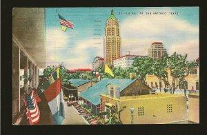USA Postmark 1953 San Antonio TX La Villita San Antonio Texas Linen Postcard