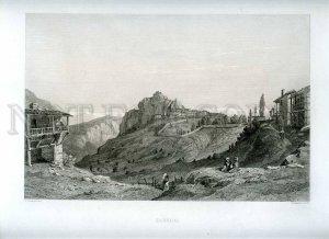 231421 TURKEY Erigheus Vintage engraving poster Lemaitre Chardon Paris