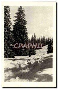 Old Postcard Jura Under the Snow