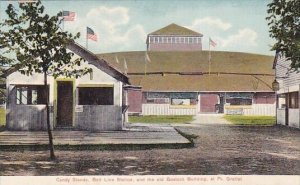 New York Port Gratiot Candy Stands Belt Line Station And The Old Bostock Buil...